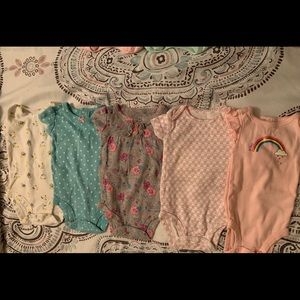 Newborn Onesies (Girl) (5 Included)
